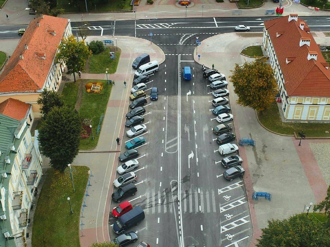 Обновленную площадь Тызенгауза показали с квадрокоптера